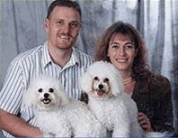 Dr's Sandra and Andrew Mann and their 2 dogs